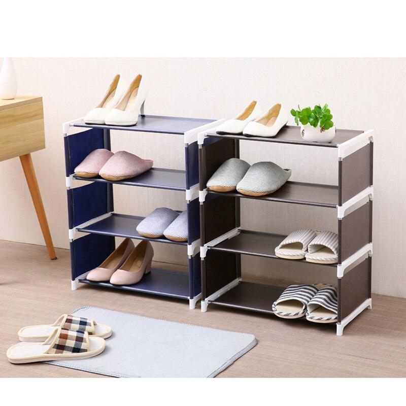 Домашние обувные стойки Органайзер несколько слоев обуви держатель для полки стойки дверь, подставка для обуви экономит пространство для