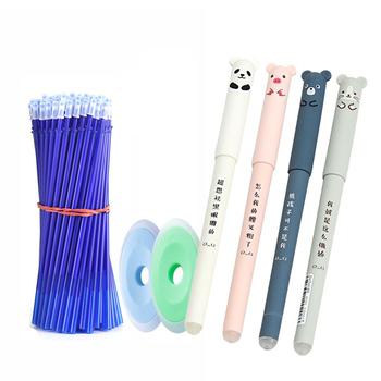 26 sztuk zestaw zwierzęta Panda zmazywalny żel długopis 0 5mm zmazywalny długopis wkłady pręty zmywalny uchwyt szkolne materiały biurowe biurowe tanie i dobre opinie MROOFUL CN (pochodzenie) Żelowy wkład Biuro i szkoła pen Erasable Gel Pen Z tworzywa sztucznego