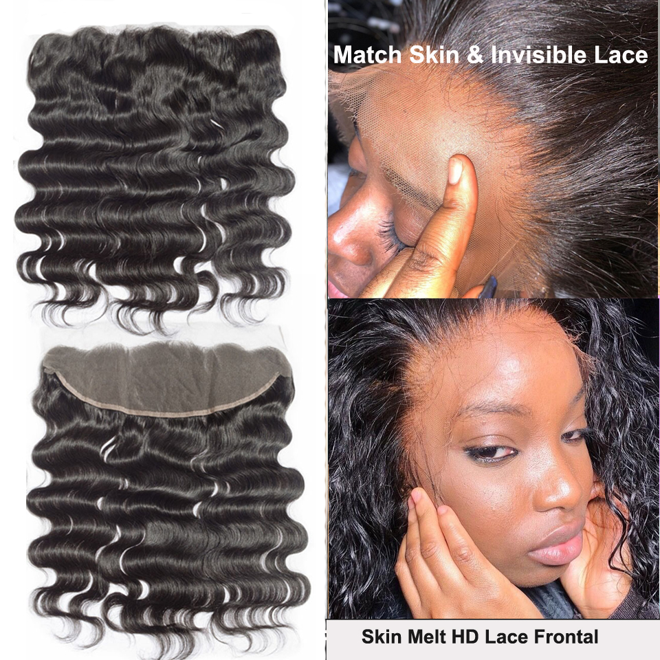 Malaysian Body Wave Lace Frontals Pre Plucked 13X4 HD Lace Frontal Closures Transparent Lace Frontals Invisible Lace