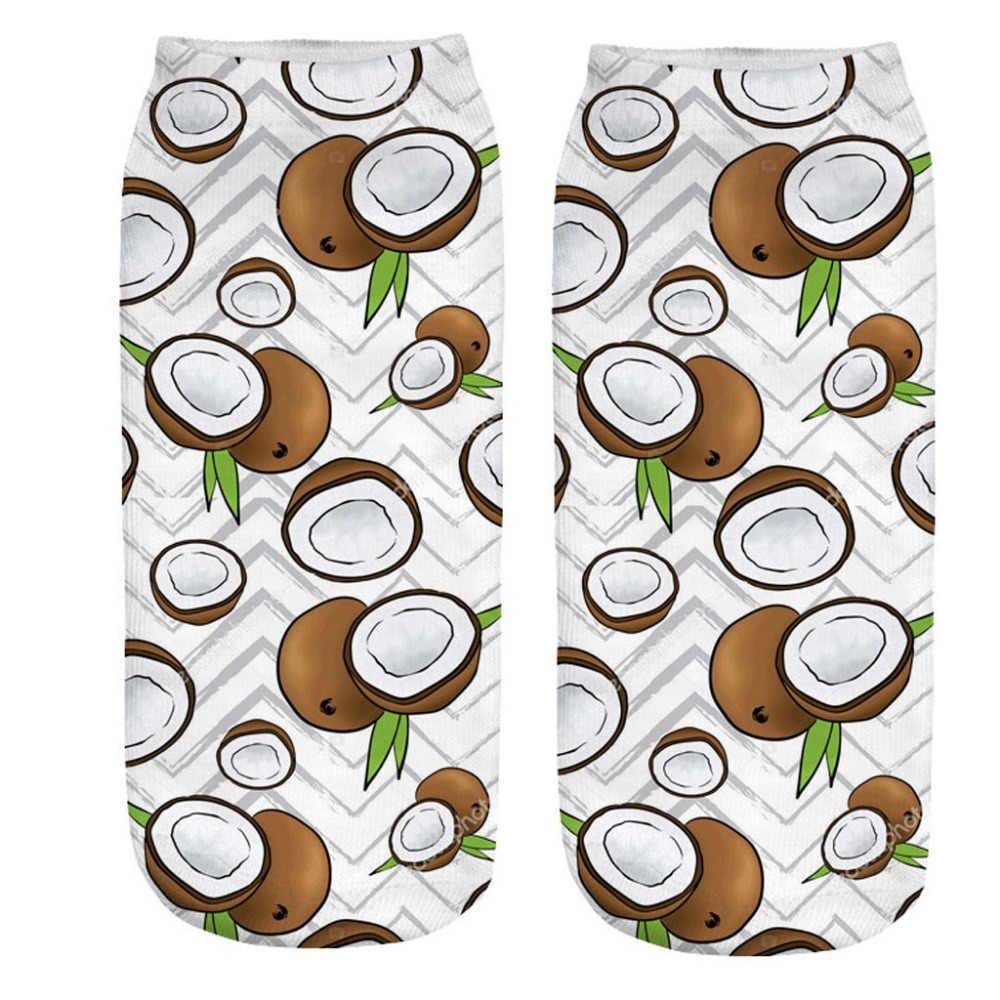 Autruche gratuite offre spéciale hiver utile garder au chaud chaussettes confortables femmes 3D dessin animé drôle mignon fruits imprimer cheville chaussettes S06