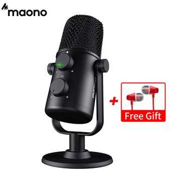MAONO AU-902 USB Condenser Microphone Cardioid Sreaming mikrofon Podcast Studio Mic Metal Recording microfone for YouTube Skype 1