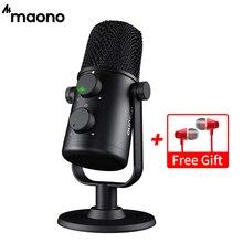 MAONO AU 902 mikrofon pojemnościowy USB kardioidalny mikrofon Podcast Studio PC Mic na YouTube, Skype, gry, nauczanie On line