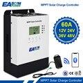 MPPT Solar Controller 60A 12V/24V/36V/48V Ladegerät Max 150VDC PV Eingang 3200W Zurück-licht Bluetooth LCD Solar Regler RS485 IP32