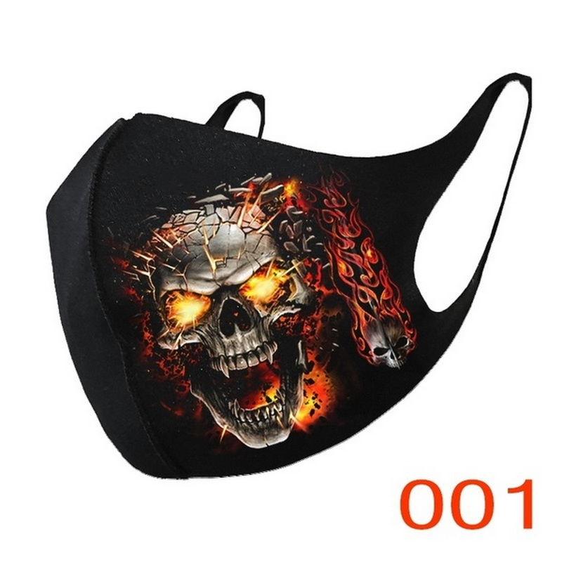 Adult Face Covers Fashion Unisex Cosplay Breathable Cotton Fabric Mouth Cover Cycling Mascarillas Reusable Facemaks Cosplay 2020 2
