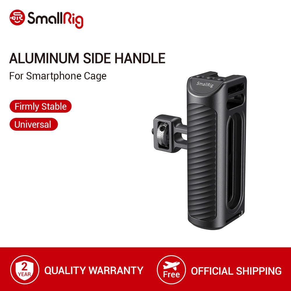 Smallrig 携帯電話ケージハンドルアルミサイドハンドルとコールド靴ユニバーサルスマートフォンボトルケージクイックリリースハンドグリップ-2424