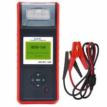 Lancol testeur de charge de batterie de voiture, diagnostic avec imprimante numérique, testeur de batterie automobile SOC SOH CCA IR MICRO 568, CCA100 2000 12V