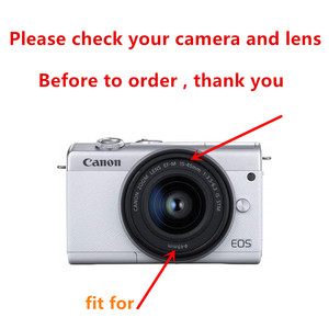 Image 2 - Kit de proteção para câmera e filtro uv, protetor de tela, caneta de limpeza, soprador de ar para canon eos m100 15 lente de 45mm