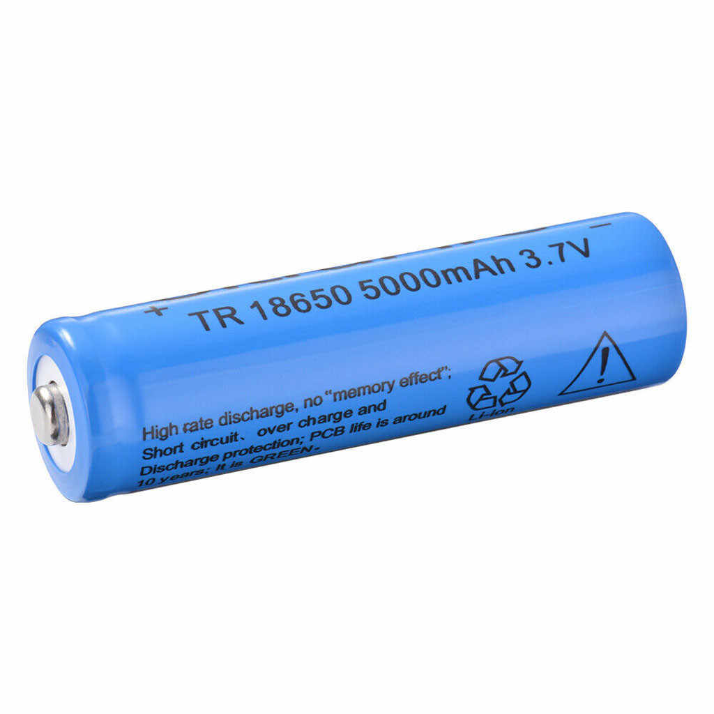 12v battery ups 12vLightbole 2PCS Li-ion Rechargeable 18650 Batteries 5000AMH 3.7V Button Top аккумулятор  rechargeable battery