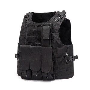 Image 2 - Wielofunkcyjny kamizelka myśliwska taktyczna wojskowa kamizelka bojowa Molle Combat nośnik płyty uderzeniowej kamizelka taktyczna CS odzież typu Outdoor