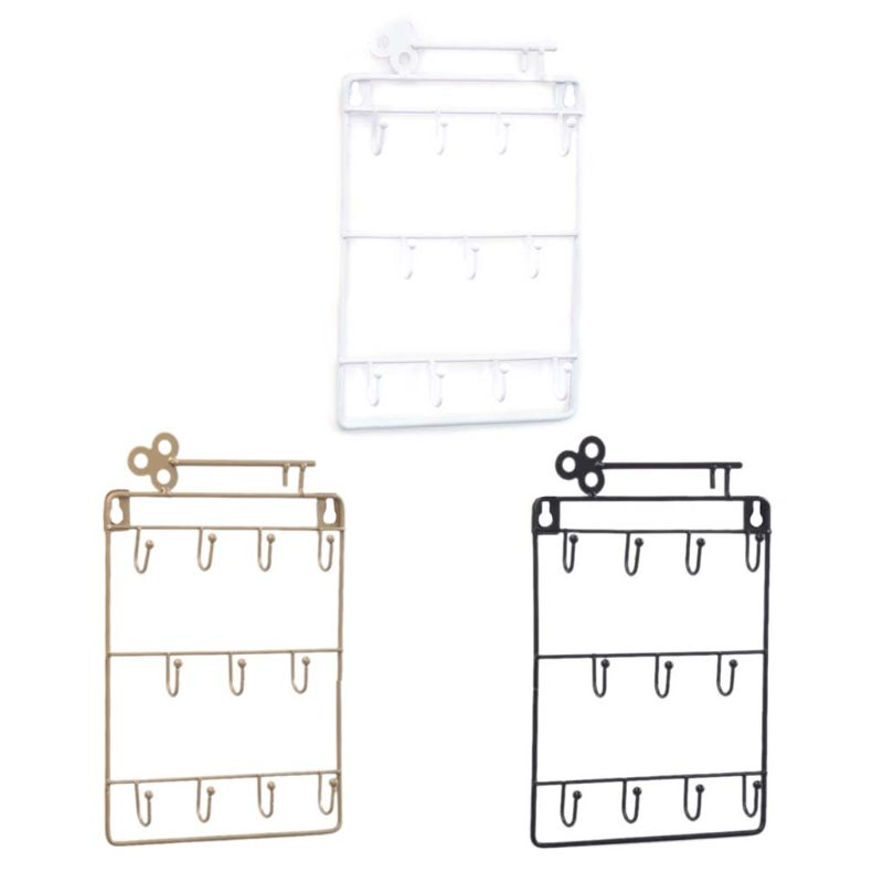 Wall Mounted 11 Key Holder Rack Organizer Pocket For Entryway Kitchen Home Office Decor