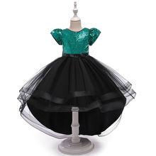 Милое платье принцессы для маленьких девочек элегантное Сетчатое