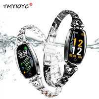 2019 Neue H8 Fitness Tracker Smart Band Blutdruck Herz Rate Monitor Smart Armband IP67 Wasserdichte Damen Smart Uhr Frauen