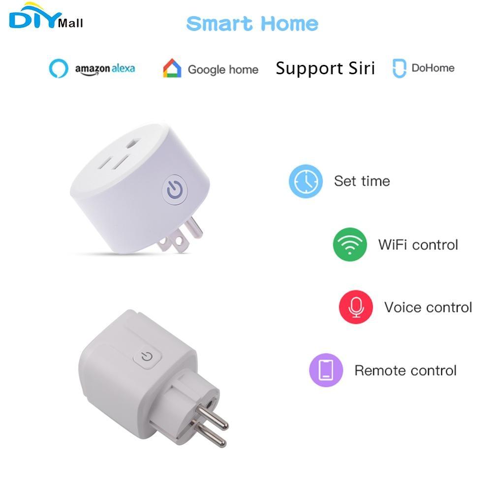 For Homekit US/EU Smart Plug Outlet Socket For Alexa/Google Assistant Timer 2.4GHz DoHome Compatible With Homekit