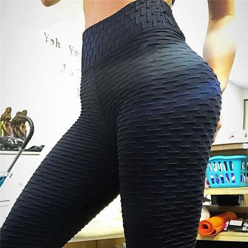 CHRLEISURE Woman Push Up Leggings Women Fitness Pants High Waist Sport Leggings Anti Cellulite Leggings Workout Black Ladies 5