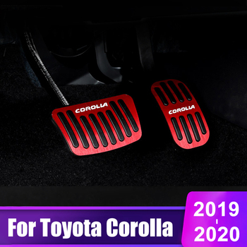 цена на Aluminum alloy Car Accelerator Pedal Brake Pedal Foot Rest Pedals Cover Non Slip Pads For Toyota Corolla 2019 2020 Accessories