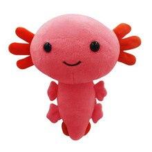 20cm Axolotl Plush Toy Kawaii Animal Axolotl Plushies Figure Doll Toy Cartoon Pink Axolotl Stuffed Plush Gifts For Kids Girls