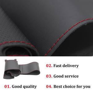 Image 5 - Hand stitched Black PU Faux Leather Car Steering Wheel Cover for BMW G20 G21 G30 G31 G32 X3 G01 X4 G02 X5 G05 X7 G07 Z4 G29