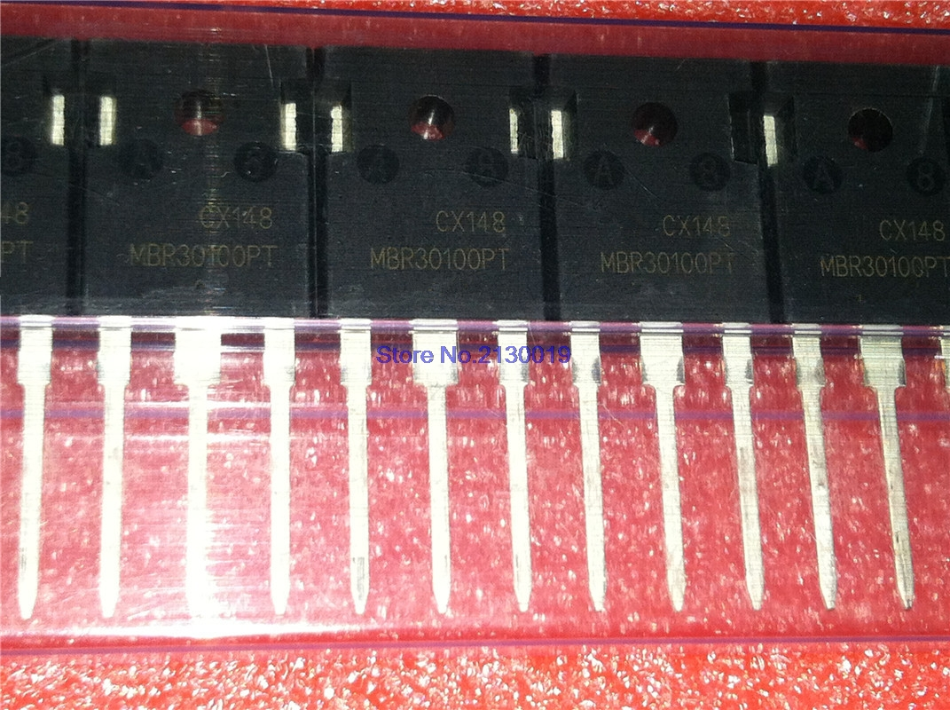 5pcs/lot MBR30100PT MBR30100 TO-247 Schottky Rectifier IC In Stock