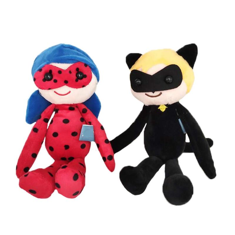 Ladybug Plush Toy Tikki Milady Toy Cartoon Anime Doll Plagg And Tikki Cat Noir Stuffed Doll For Kid Gifts