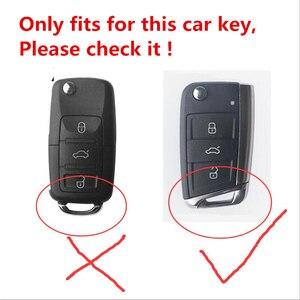 Image 5 - سيليكون ألياف الكربون ABS ماتي سيارة حقيبة غطاء للمفاتيح ل Volkswagen VW Golf7 mk7 مقعد إيبيزا ليون FR 2 ألتيا ازتيك لسكودا اوكتافيا