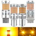2X LED No Hyper Flash P27W 3156 P21W W21W BAU15S Amber Canbus Turn Signal Light For Mercedes w204 w213 w211 w205 w212 w203 Benz