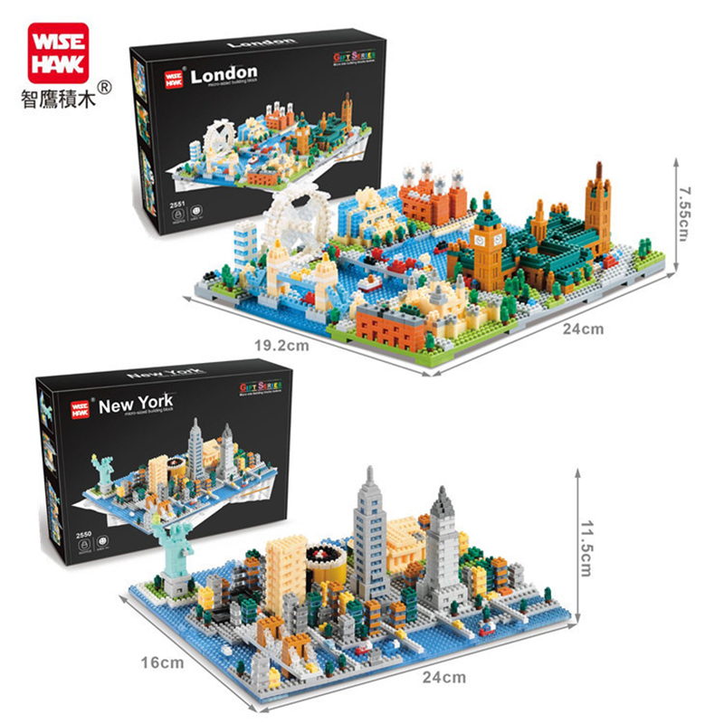 City New York London Street View Building Block Legoedly Architecture America England Model Diamond Bricks Kits Toys Gifts image