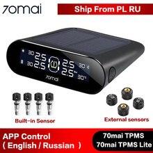 70mai タイヤ圧力センサータイヤ空気圧監視システム lite ソーラーパワー lcd ディスプレイ xiaomi tpms カーセキュリティ警報システム