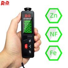 R&D ET330+Zn Car Paint Coating Thickness Gauge Car Paint Electroplate Metal Zinc Coating Thickness Tester Meter Fe & NFe & Zinc