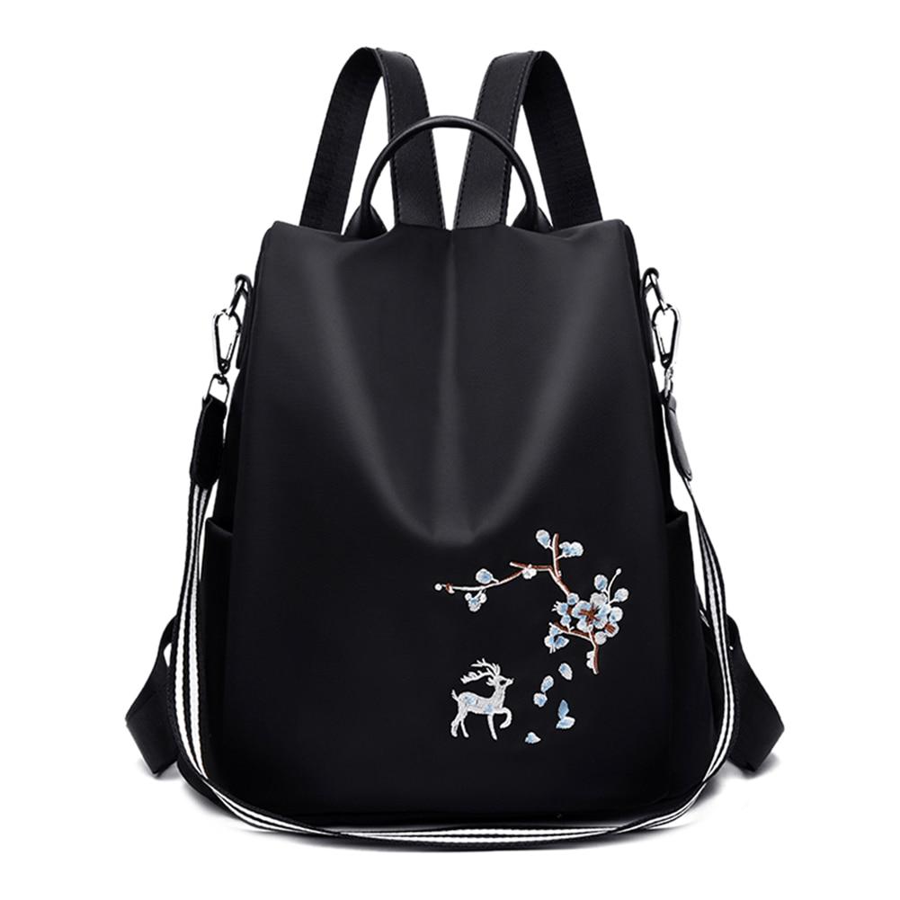 Оксфорд женский новый рюкзак с вышивкой и принтом школьные сумки на плечо Противокражные дорожные повседневные рюкзаки Mochila Подростковая сумка для девочек|Рюкзаки| | АлиЭкспресс
