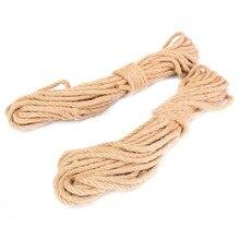 2 шт 10 м длинный джутовый шпагат натуральный пеньковый переплет веревка Толстая DIY домашний Декор 6 мм