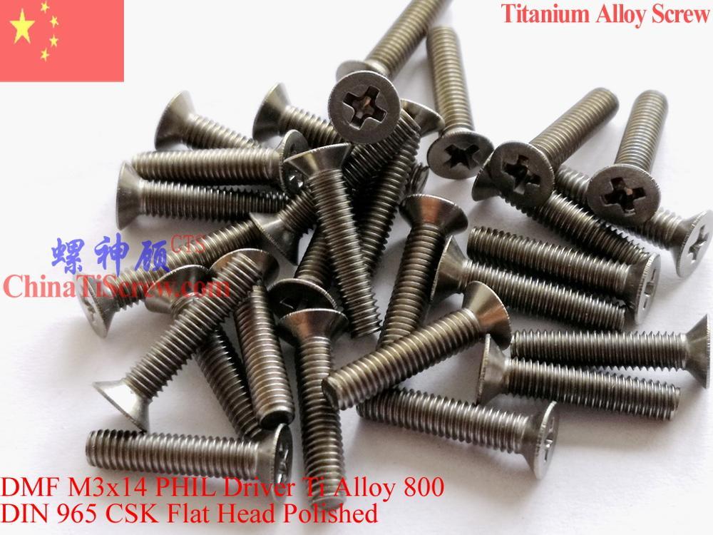 Купить с кэшбэком DIN 965 Titanium Alloy screw M3x6 M3x8 M3x10 M3x12 M3x14 for Mini Drones Flat Head PHIL Driver Polished 12 pcs