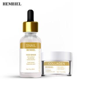 Collagen Cream Anti-aging Skin Firming Snail Facial Essence Anti-wrinkle Whitening Moisturizing Skin Care Sets Face Serum