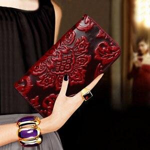 Роскошный женский кошелек премиум класса из вощеной кожи, клатч с эфирным маслом, уникальный тисненый, известный бренд, стильный длинный же...