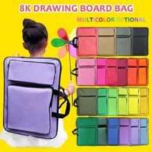 8k Kid Art Bag per tavolo da disegno borsa per attrezzi da disegno kit da disegno multicolore borsa per schizzi impermeabile per custodia per bambini Art Portfolio cheap RTBXF CN (Origine) gm15 Tarpaulin 8K children s picture bag