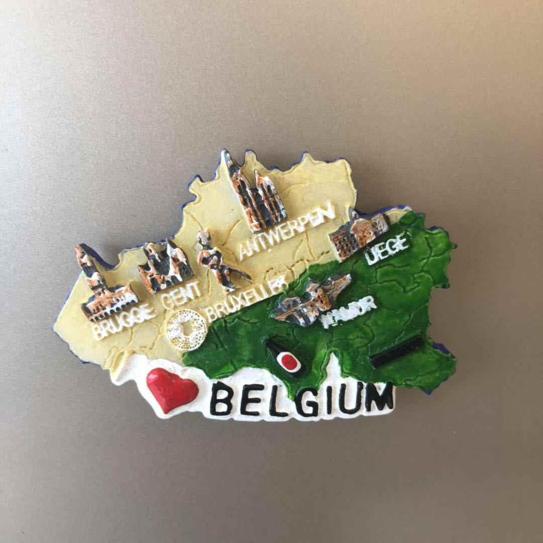 Buzdolabı dekorasyon İrlandalı cüce çizgi film karakteri Santorini yunan ev belçika yunanistan seyahat reçine çıkartmalar buzdolabı mıknatısı