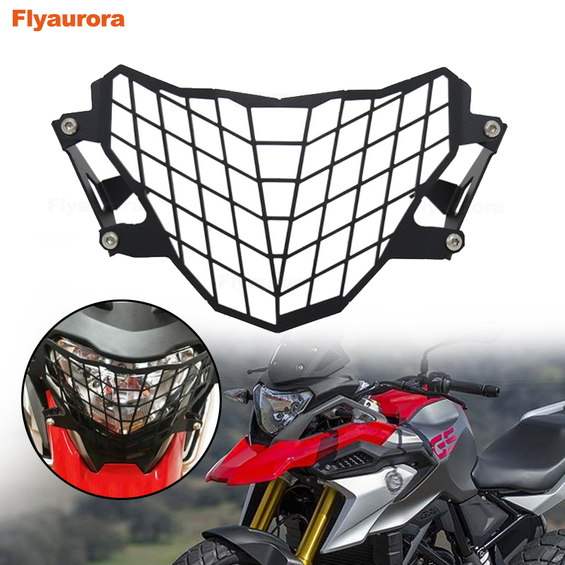 Front Motorcycle Headlight Mesh Grill Mask  Retro Head Lamp Cover Mount Protector Guard For BMW G310GS 2017-18 Motorcycle Access