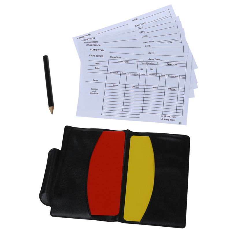 Box For Football Match Referee Red And Yellow Cards