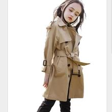 Children baby girl spring autumn new trench coats new fashion elegant high quali