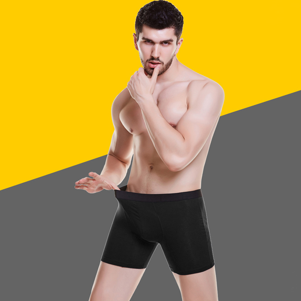Breathable 5PCs Men Comfy Panties Sports Lengthen Ice Sexy Low Waist Underwear Boxer Briefs Running Anti wear Shorts Underpants in Men 39 s Briefs from Sports amp Entertainment