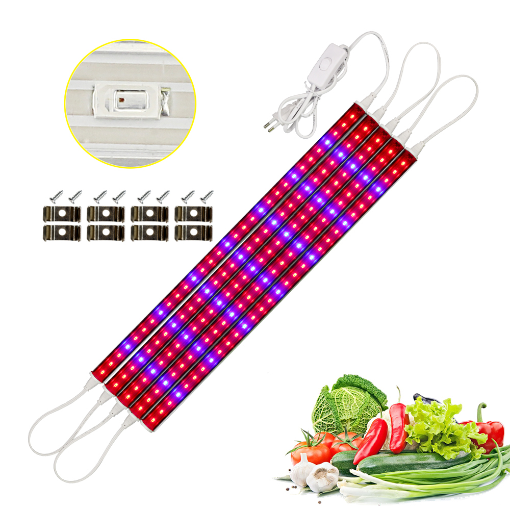 Phytolamp LED Grow Light 5730 Fitolampy Growth Light 50m Tube Indoor Growth Bar Light For Aquarium Greenhouse Grow Tent