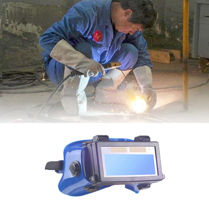 Solar automatic dimming welding protective mask welder glasses cap solar powered professional