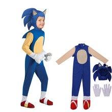 Menino menina de luxo sonic hedgehog traje crianças jogo rpg de halloween traje das crianças
