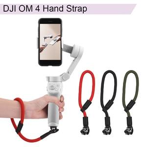 Image 1 - Naylon el kayışı kordon bilek kayışı DJI OM 4 Osmo Mobile 2 3 Zhiyun pürüzsüz 4 Q Feiyu Vimble vlog cep Moza aksesuarları