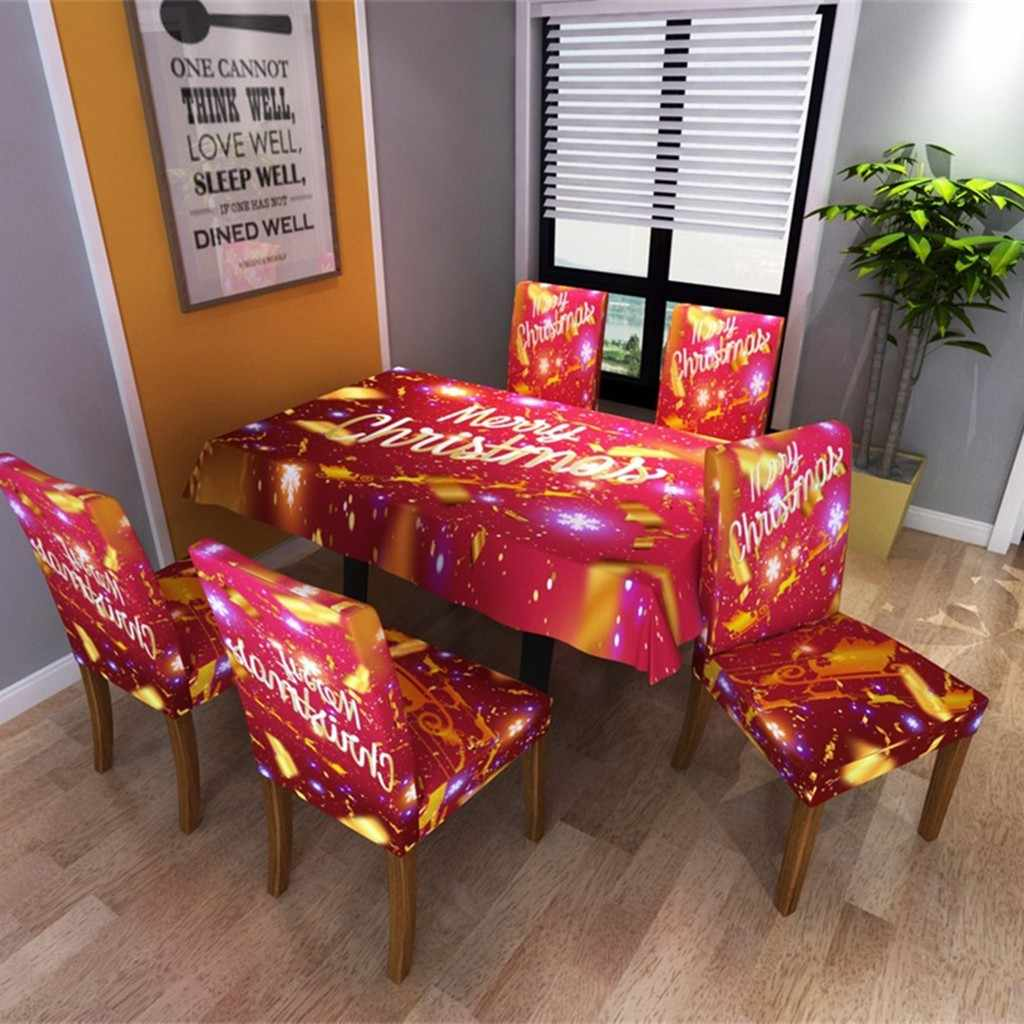 New Year Christmas Tablecloth Kitchen Dining Table 2020 Tablecloth Chair Cover Digital Printing Christmas Table Decoration 64p Aliexpress