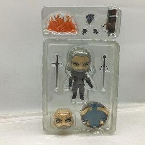 Image 3 - 10 Cm Q Witcher Ed 3 Wild Hunt 907 Geralt Sói Trắng Geralt Nhựa PVC Nhân Vật Đồ Chơi Mô Hình tặng Búp Bê