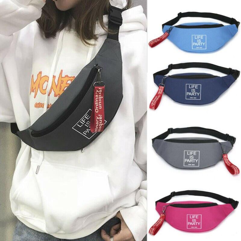 Mans Womens Fanny Pack WaterProof Phone Pocket Pouch Belt Waist Bum Bag Waist US