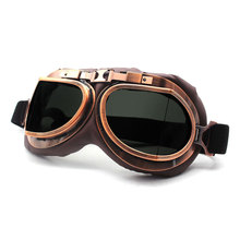 Retro Motocross แว่นตาแว่นตา Vintage Moto คลาสสิกสำหรับ Harley Pilot Steampunk ATV ทองแดง UV ป้องกัน