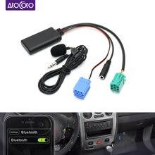 Автомобильный Bluetooth 5,0 подключения к разъему AUX микрофон громкой связи Bluetooth гарнитура для Мобильный телефон вызова без нажатия кнопок адапт...