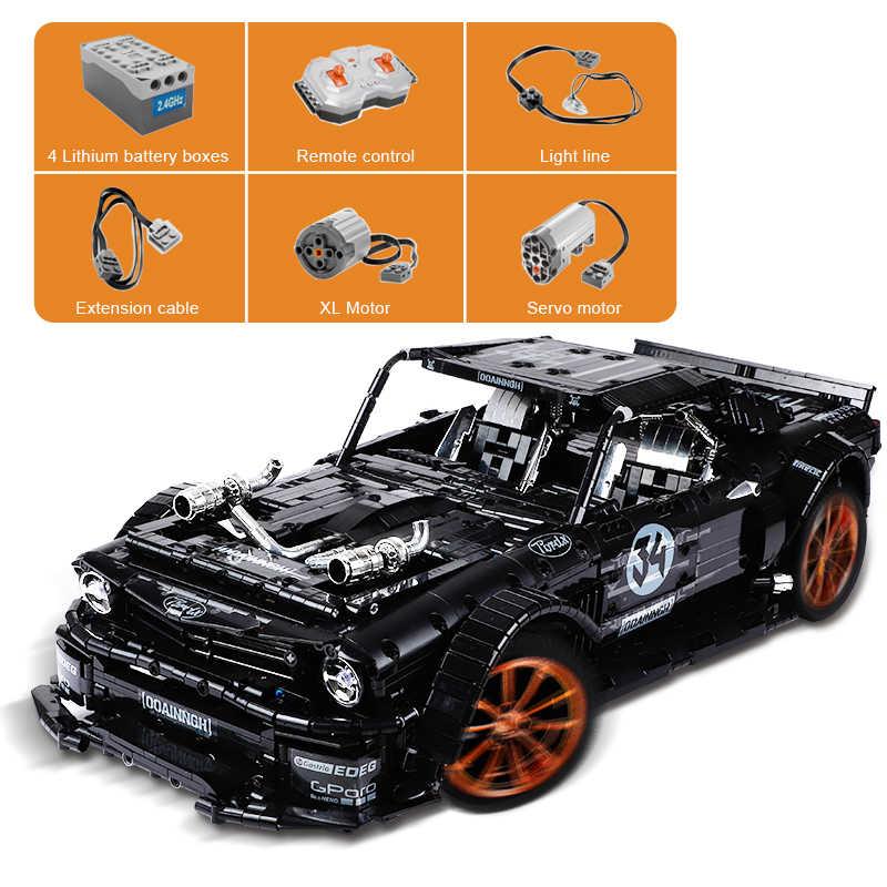 3168Pcs RC Diarungi Mustanged Hoonicorn RTR V2 Model Blok Bangunan MOC-22970 Technic Balap Mobil Led Batu Bata Mainan Anak Hadiah