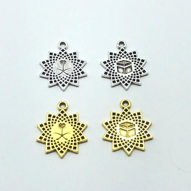 20pcs charm Saudi Arabia national emblem Muslim box pendant for jewelry making DIY handmade bracelet necklace pendant